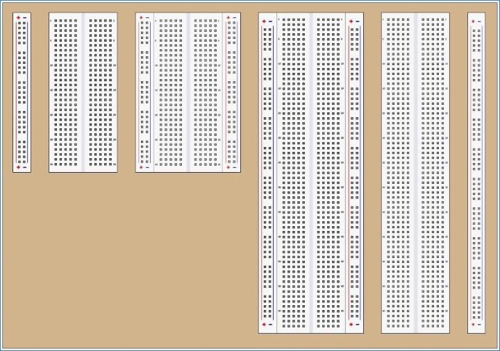 Image of different Breadboard types in RTM_Layout V1.010