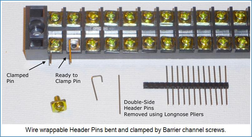 Image shows tecchnique to wire-wrap to Barrier channels...