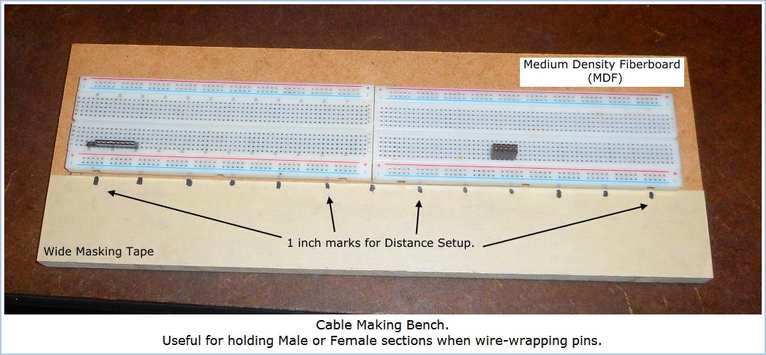 Image shows completed Cable Making Bench