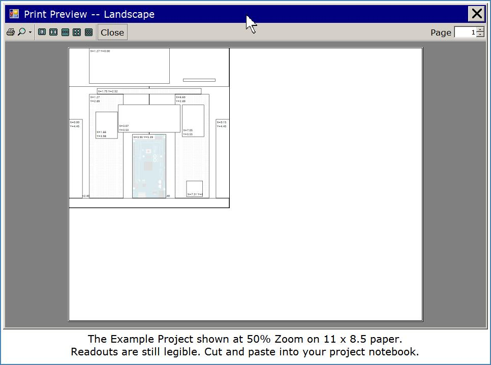 View of Printer output in Preview Dialog