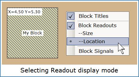Image shows RTM_Layout context menu for changing Block display mode.