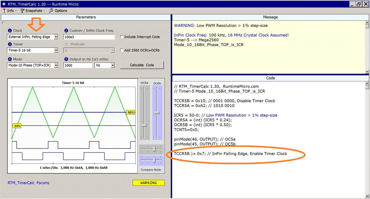Image shows proposed version 1.3 of RTM_TimerCalc