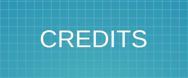 Image saying the word CREDITS