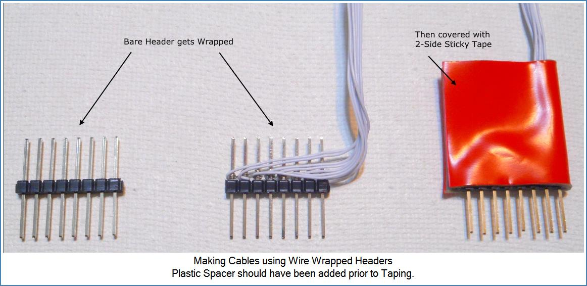 Image shows basic steps to make custom cable...