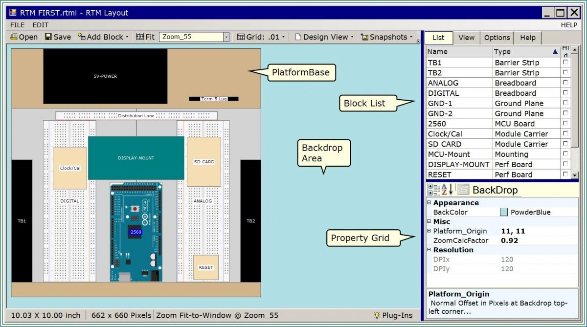 Image of RTM_Layout application.