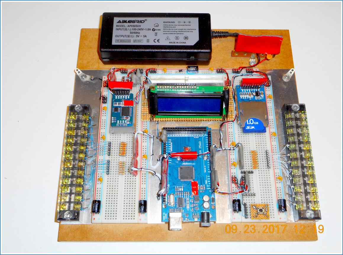 Image of completed Permanent Solderless Breadboard Project.